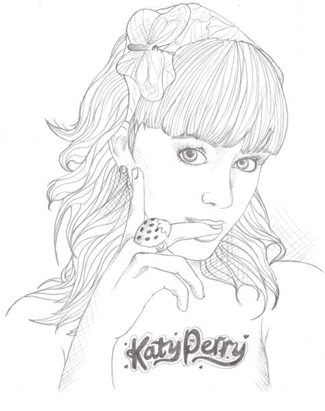 Free Da Katy Perry Coloring Pages Katy Perry Coloring Page