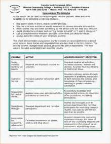 Action Verbs For Resumes And Cover Letters resume action words customer service strong action verbs for resumes