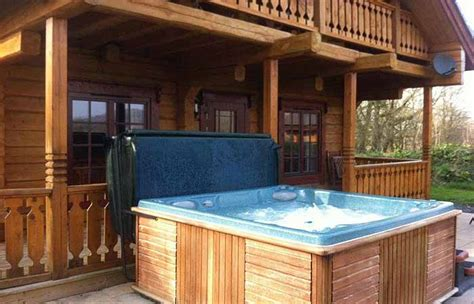 dwr y felin luxury log house holidays with tubs mid