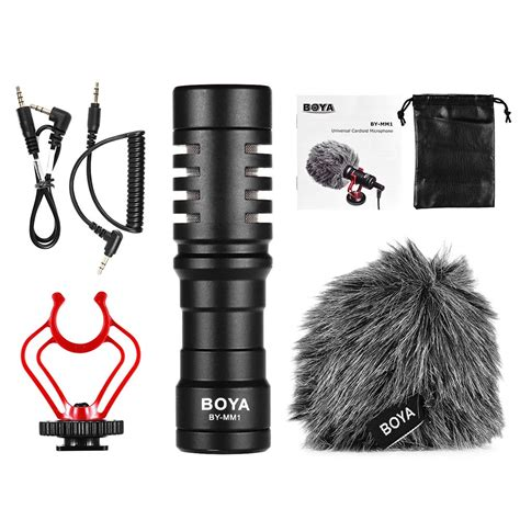 Boya By Mm1 Microphone For boya by mm1 mini cardioid microphone sales black tomtop