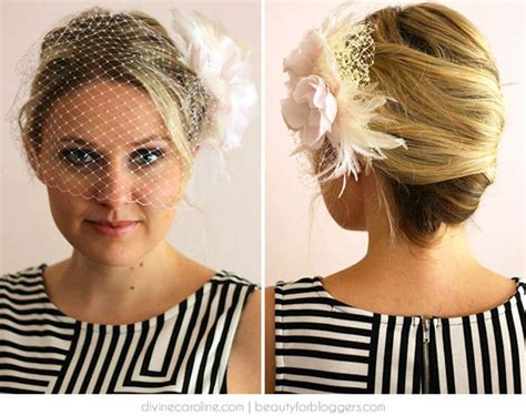 Wedding Hair For Birdcage Veil by The Diy Birdcage Veil Hairstyle More