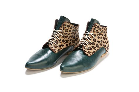 cute pattern shoes flat shoes green shoe with leopard pattern cute pointygreen