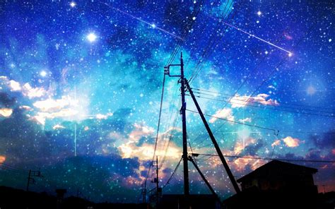wallpaper anime night starry night sky wallpapers wallpaperpulse wallpapers