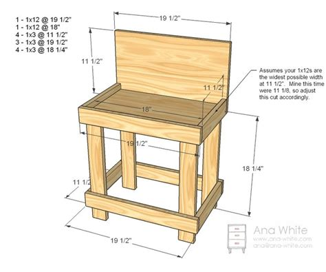 easy bench plans ana white build a toy workbench free and easy diy