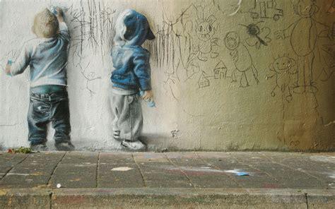 graffiti depicting children wallpapers  images