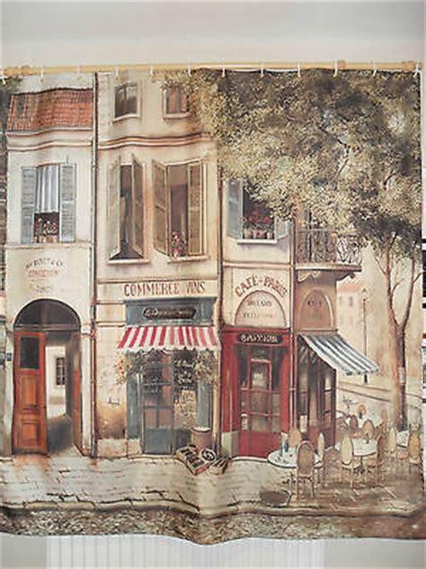 paris cafe curtains cafe de paris french street scene vintage art deco fabric