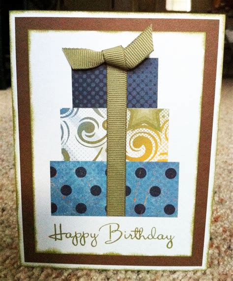 Handmade Mens Birthday Cards - with paper scrapbooks cards diy masculine
