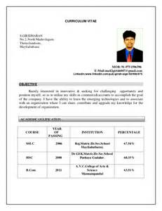 Curriculum Vitae Resume Format by Cv