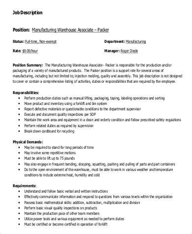 20 production associate job description lock resume