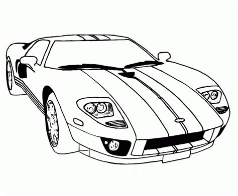 supercar ford gt coloring pages free online cars