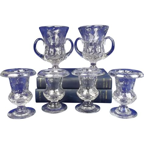 circa 1930 set of six royal brierley glass vases by