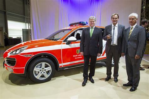 Werkfeuerwehr Porsche Leipzig by η Porsche έβγαλε το 500 000στο αυτοκίνητο της στο