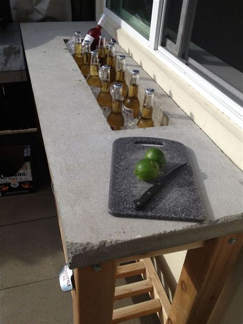 how to build bar top outdoor bar concrete counter top backyard pinterest