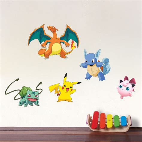 character wall stickers character wall graphics birthday theme decor pikachu stickers