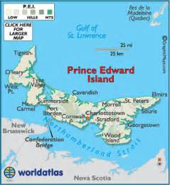 charlottetown pei map prince edward island vacation