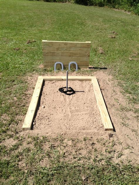 horseshoe pit dimensions backyard horseshoe pit house ideas pinterest backyard ideas