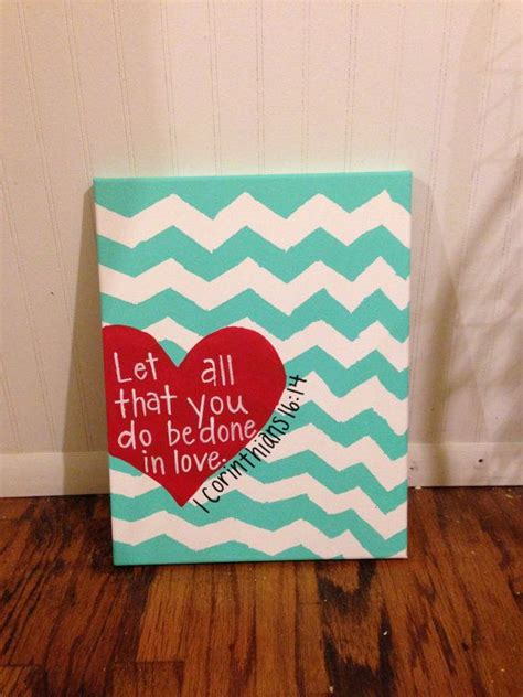 cool painting ideas for your sweet home canvas painting heart 1 corinthians 16 14 cute