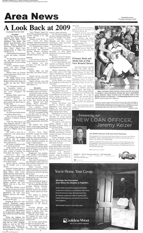 The Humboldt Journal February 4, 2010: Page 5