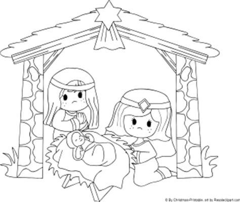 nativity coloring page pdf free preschool christmas santa claus and christmas