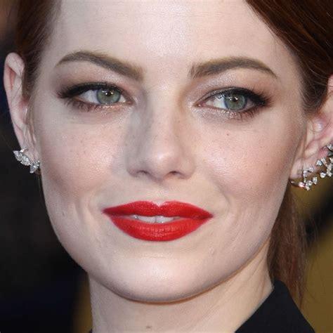 emma stone lipstick emma stone makeup bronze eyeshadow brown eyeshadow red
