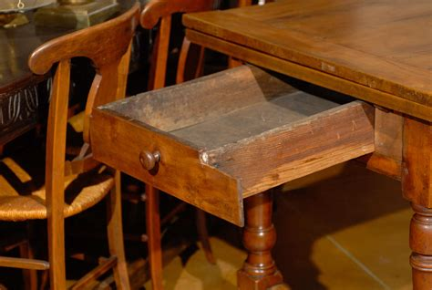 table with slide out leaves 19th century french fruitwood farm table with pull out