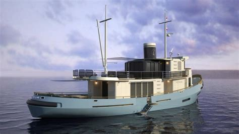 luxury tugboat yacht french navy tugboat le lutteur converted into a superyacht