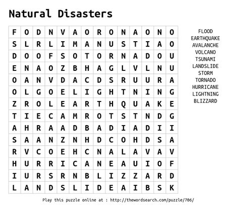 printable word search hurricanes download word search on natural disasters