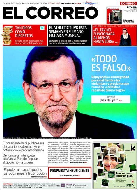 diario el correo noticias de pasco 15 mejores im 225 genes sobre 03 02 2013 portadas periodicos