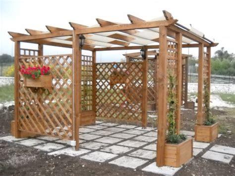 gazebo in legno offerte gazebo rettangolare in legno priolo gargallo