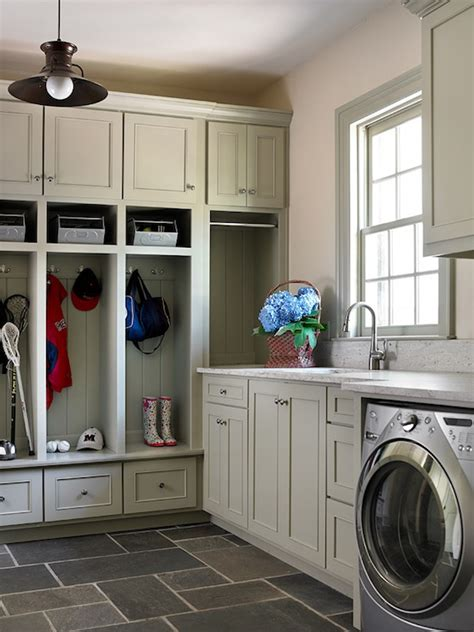 Mudroom Laundry Room Floor Plans by Mudroom Amp Laundry Room Design Gray Lockers Amp Cabinets