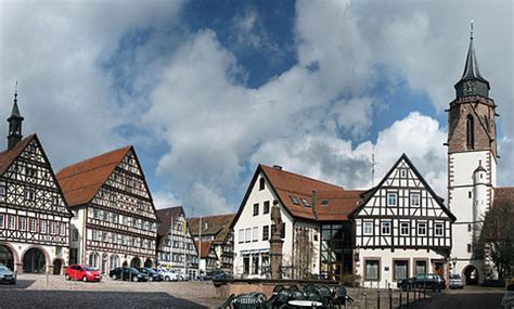 famous german architects the market place at dornstetten showing half timbered