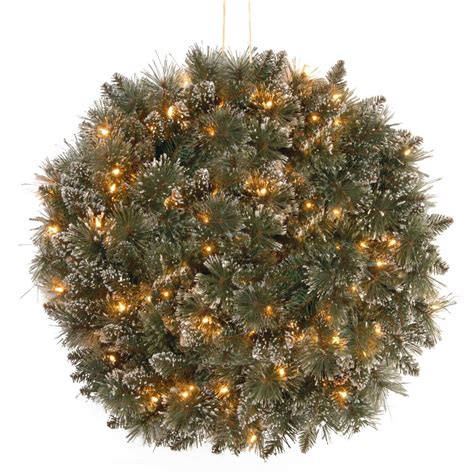 9 ft indoor pre lit glittery bristle pine artificial christmas tree martha stewart national tree company 16 in glittery bristle pine with battery operated warm white