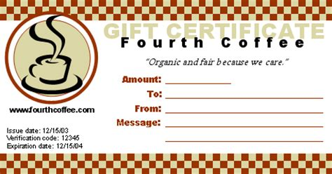 Free Voucher Templates Microsoft Word Templates Meal Gift Certificate Template