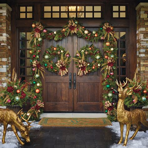 christmas front door decor florist s choice designer front door frontgate christmas decor traditional holiday