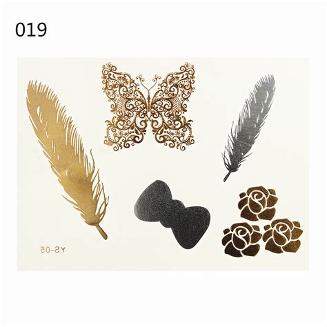 Stickers Gold Silver Temporary 28 designs jewelry gold silver metallic temporary sticker makeup ebay