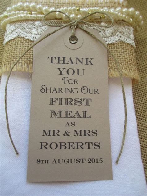 100 Wedding Napkin Ties Wedding Table Decor Tags