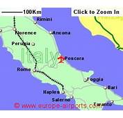 Map Showing Location Of Abruzzo International Airport Italy  Click