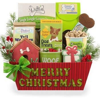merry christmas dog gift basket