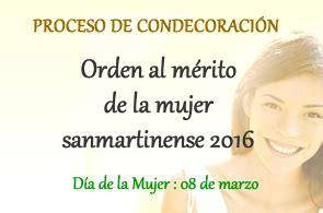listado de orden de mrito 2016 la pa orden al m 233 rito de la mujer sanmartinense direcci 243 n