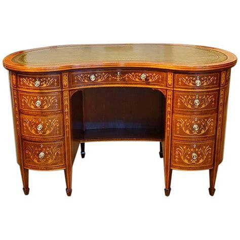 Kidney Shaped Desks Edwardian Inlaid Mahogany Kidney Shaped Desk For Sale At 1stdibs
