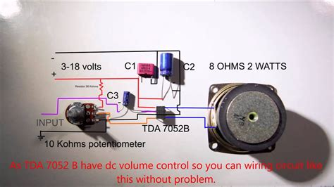 amplifier tda wiring diagram youtube