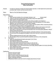 grocery clerk job description for resume sles of resumes grocery store cashier quotes quotesgram
