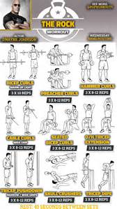 tricep workouts at home the rock arms workout routine how dwayne johnson gets