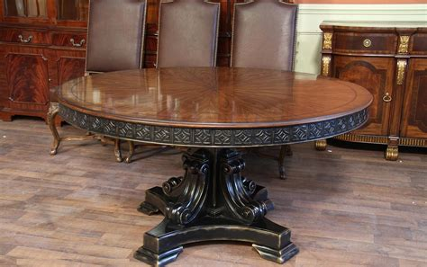 keukenhof dark walnut round pedestal dining room set 60 inch round walnut pedestal dining table w black and gold