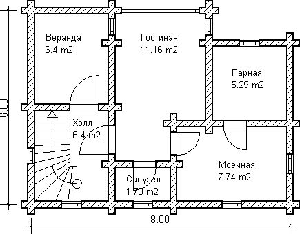 russian house plans custom log house sauna or russian banya project floor plan from a custom log 6x8