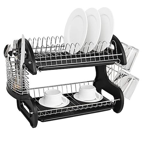 dish rack bed bath and beyond home basics 174 2 tier dish drainer bed bath beyond