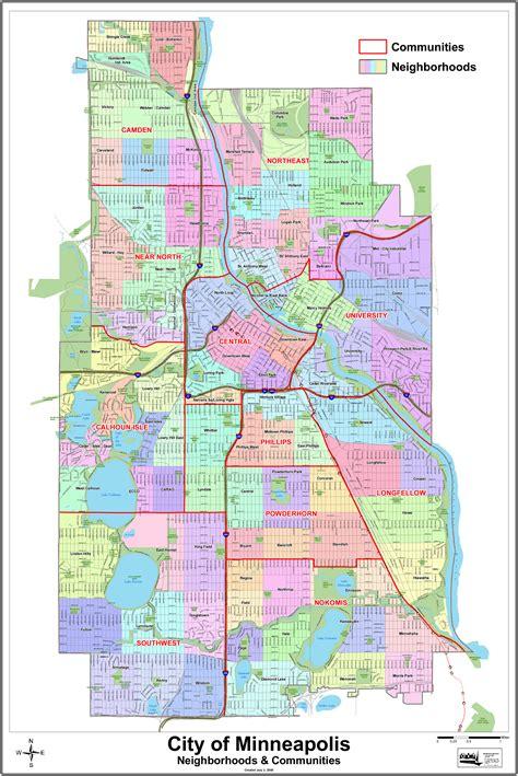 map of minneapolis map of mpls neighborhoods minneapolis