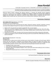 Mortgage Underwriting Resume by Mortgage Broker Resume Exle Tammys Resume