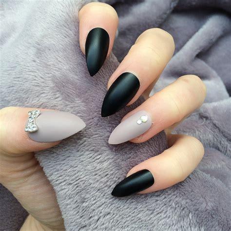 Matte Stiletto Nail Designs