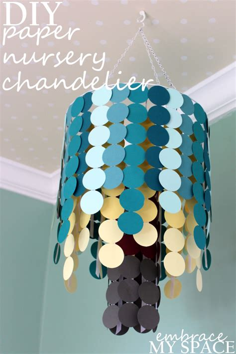 How To Make A Paper Mobile For Nursery - diy paper nursery chandelier project nursery